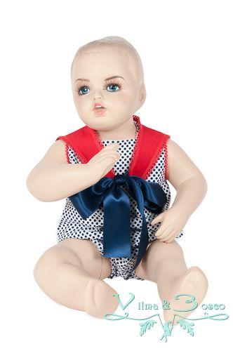 Vilma & Bosco ~ Colección Primavera Verano 2014 | #Pelele de bebé niño - Familia #Marina | #Moda #infantil, diseños para bebés, niños y niñas hasta los 10 años | #celebraciones