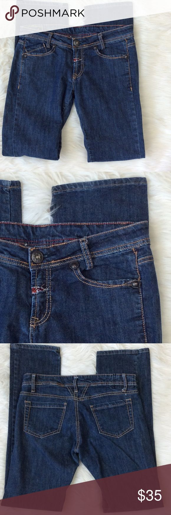 "Marithe Francois Girbaud Straight Leg Jeans Excellent condition.  Cotton with stretch. Medium wash. Straight leg. Size 27"" measurements approximately: waist 27"" inseam 31"" total length 40"" rise approximately 9"" Marithe Francois Girbaud Jeans Straight Leg"