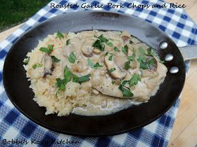 Bobbi's Kozy Kitchen: Roasted Garlic Pork Chops and Rice with Progresso Recipe Starters {Product Review}