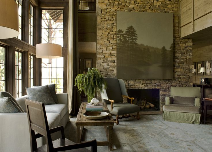 Lake House Ideas On Pinterest Lakes Blue Interiors And Fireplaces
