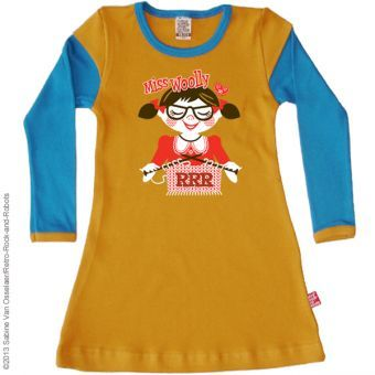 Retro-Rock-and-Robots Kleid Woolly Dress mosterd