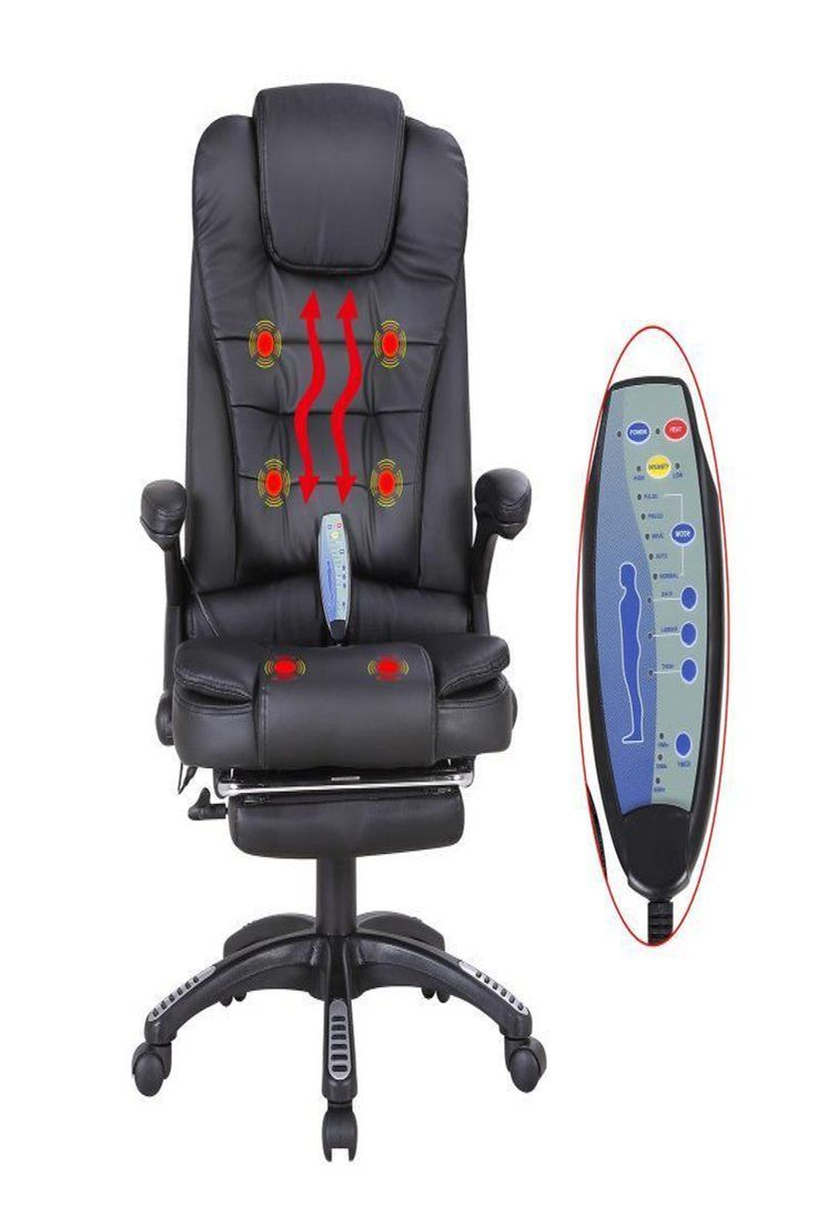Massage Office Chair 129 90 Black Heated Executive Massage Chair Vibrating Ergonomic