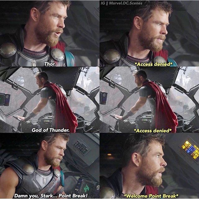 The fact that this is Tony's canon nickname for Thor gives me all the happy.