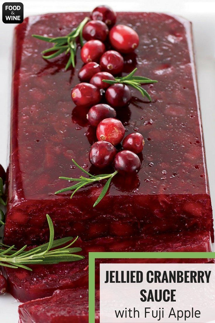 Cranberries only need to be cooked for a few minutes before they burst and form a terrific cranberry sauce. Melissa Rubel Jacobson has a number of recipes for them. To mold the sauce so it's sliceable, she adds an apple, which is loaded with pectin, a natural gelling agent.   Food & Wine