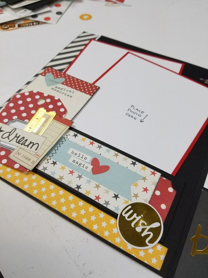 "My project: File Under ""M"" for Memories Remix Album using Echo Park, Magical Adventure and Simple Stories, Say Cheese Paper Collections. Click on the link below to purchase the tutorial. http://shop.paperphenomenon.com/searchquick-submit.sc?keywords=remix"