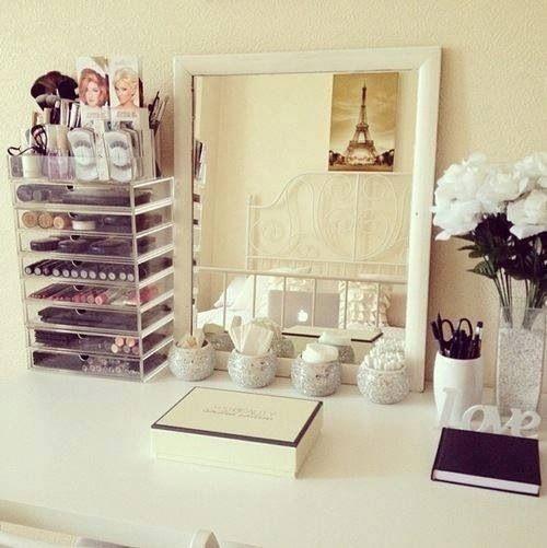 tidy makeup vanity