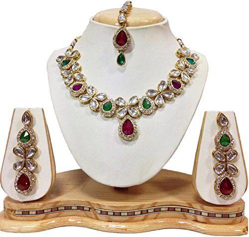 Elegant Indian Bollywood Gold Plated Pink & Green Stone M... https://www.amazon.com/dp/B01NCX4LAC/ref=cm_sw_r_pi_dp_x_0LH1ybY6JN46B