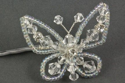 Sparkly Butterfly Crystal and Diamante Wedding Hair Grip. The Sparkly Butterfly…