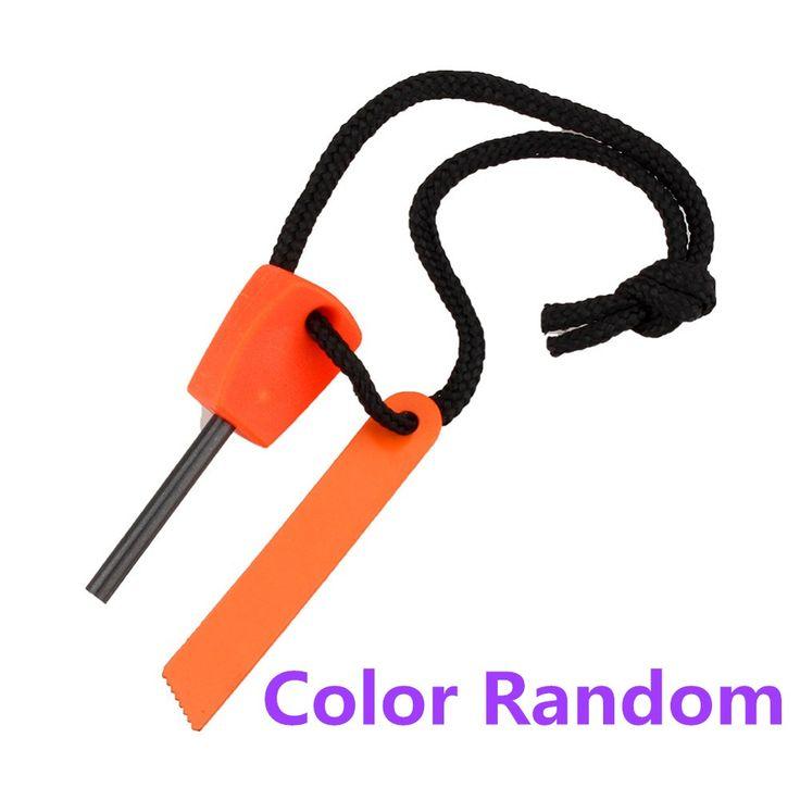 Hot Sale Outdoor Stone Fire Starter Flint Striker Lighter Kit for Outdoor Travel Emergency Survival Color Random