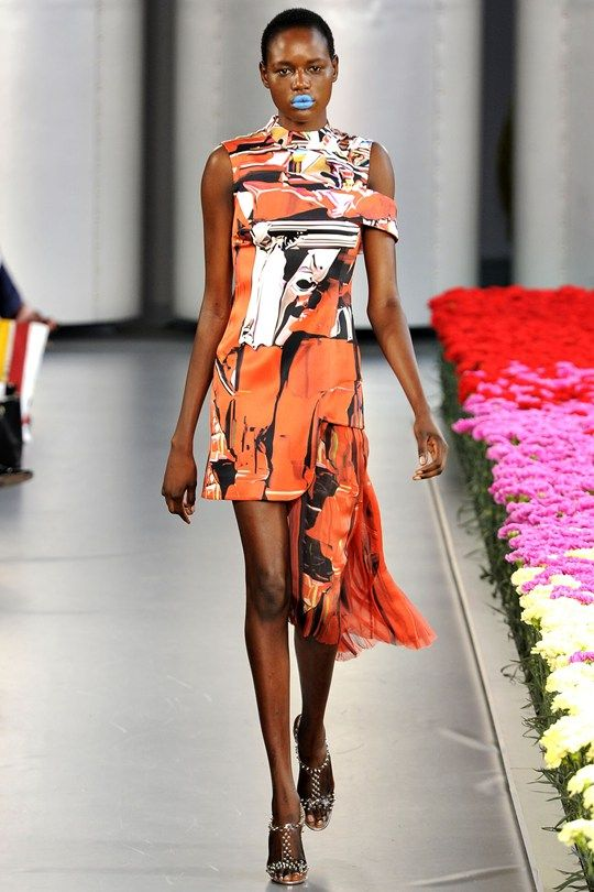 Try this for the monday morning meeting.  Go on, we dare you.  Tatler - Mary Katrantzou SS12