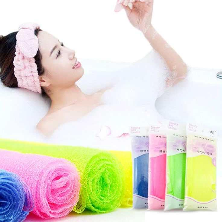 Exfoliating Nylon Bath Shower Body Cleaning Washing Scrubbing Cloth Towel Sponges Scrubbers