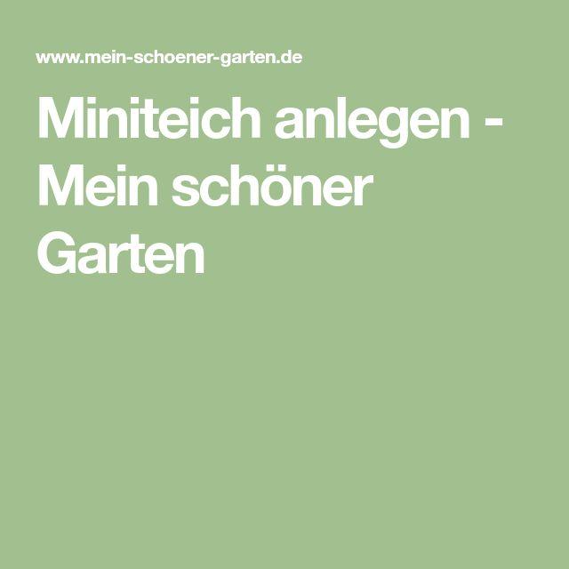 Miniteich anlegen - Mein schöner Garten