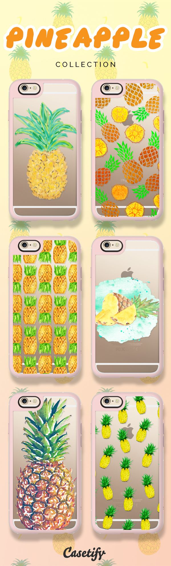 Be a pineapple: Stand tall, wear a crown, and be sweet on the inside! Shop these pineapple cases on our site now! https://www.casetify.com/search?keyword=pineapple | @casetify