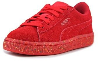 Puma Suede Classic Multi Splatter Kid Ps Youth Suede Red Fashion Sneakers.