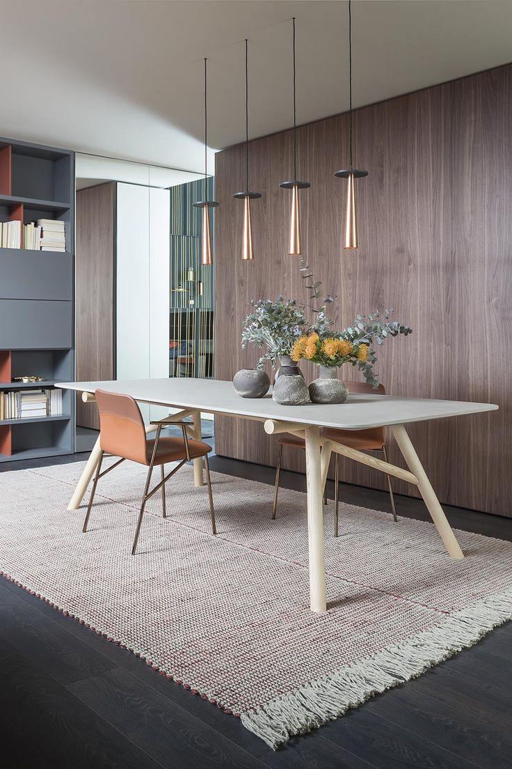 Salone del Mobile 2017 | tavolo MAESTRO e sedia ALUNNA design by Emilio Nanni | MAESTRO table and ALUNNA chair design by Emilio Nanni | PIANCA | www.pianca.com