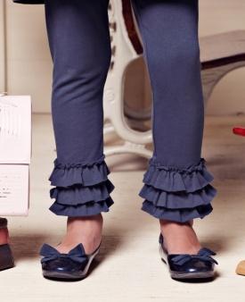 super cute leggings - add ruffle if legs grow longer