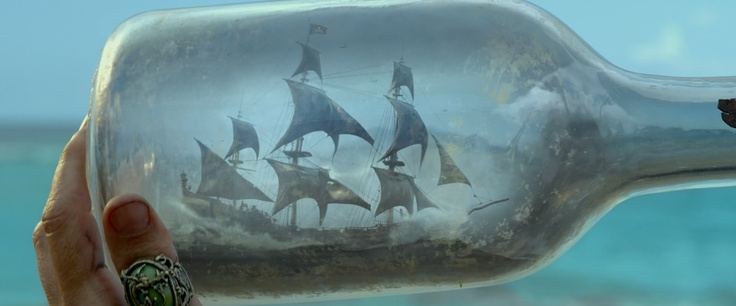 The Black Pearl in a bottle