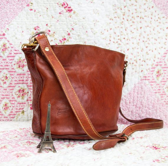 Sophie French Vintage Dark Tan Leather by dandeliondaydreamer on Etsy, $88.00