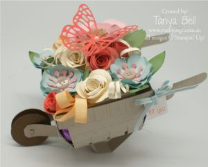 Stampin' Up! Stamping T! - Bouquet Berry Basket Barrow