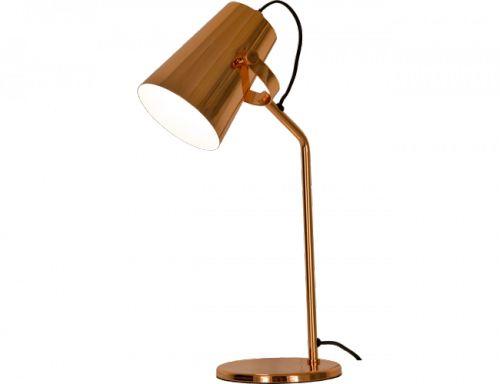 Stuk bordlampe fra Aneta er en nydelig industriinspirert lampe laget i kobberbelagt metall. 1,8 m svart ledning med bryterHøyde: 46 cmBredde: 15x23 cmSokkel: E14Max 40W