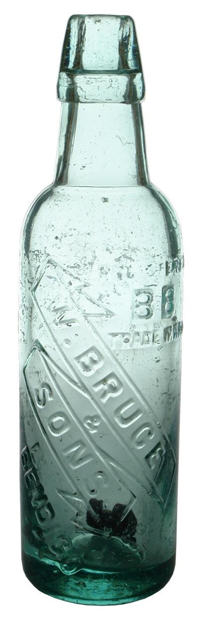 Bruce & Sons, Bendigo. Ribbon style embossing. Lamont. 10 oz. Cannington Shaw made variety. c1890s