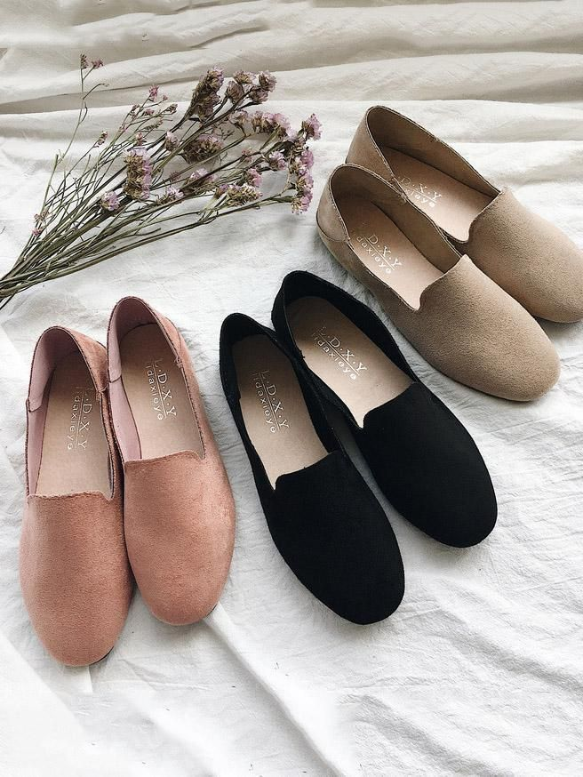 Simple Comfortable Suede Shoes | Flat