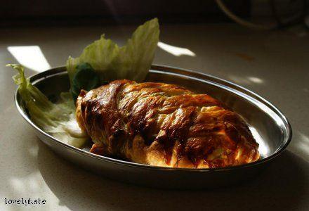 Pierś z kurczaka w cieście francuskim: Cieści Francuskim, Taki Którego, Lubię Takiego, Rzeczywiści Jest, Wygląda Lubię Taki, Taki Smaki, Jest Takż, Pojedyncza Pierś, Ciastem Francuskim