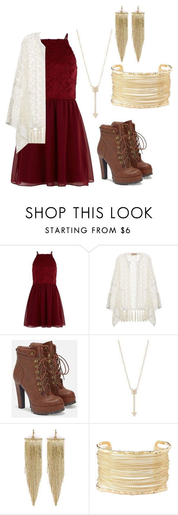 """""""Dressy"""" by jackie803j on Polyvore featuring New Look, ADRIANA DEGREAS, JustFab, EF Collection, Kenneth Jay Lane and Charlotte Russe"""