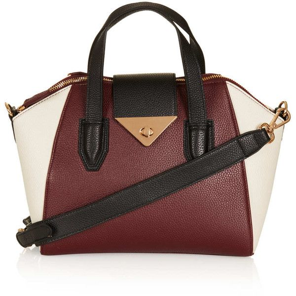 TOPSHOP Colour Block Mini Evian Bag (€66) ❤ liked on Polyvore featuring bags, handbags, shoulder bags, purses, bolsas, accessories, burgundy, red shoulder bag, topshop handbags and red handbags