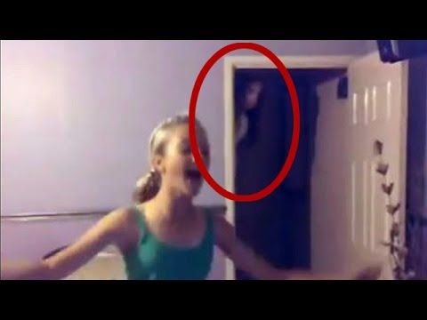 "Ok..the ""ghost"" made a shadow on the door BUT I don't know how the figure got to the top of the stairs so quickly..nor would I be running TOWARDS a scary figure like this girl did unless that was the only way out? Not sure..."