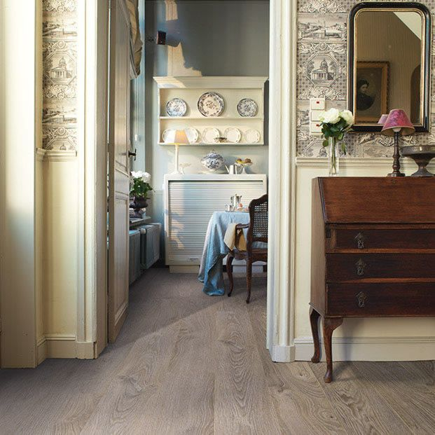 The Quickstep Elite Old Light Grey Oak Laminate Flooring From Flooringsuppliescouk Has