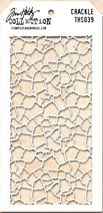 Stamper's Anonymous / Tim Holtz - Layering Stencil - Crackle