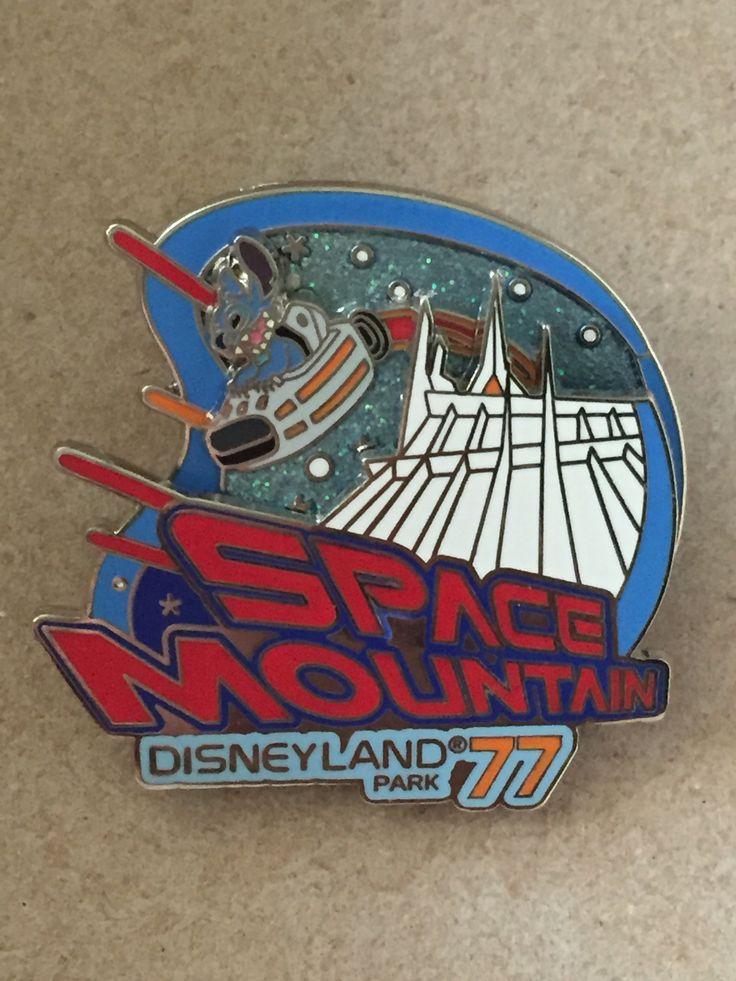 Space Mountain Disneyland 77 Spinner Pin