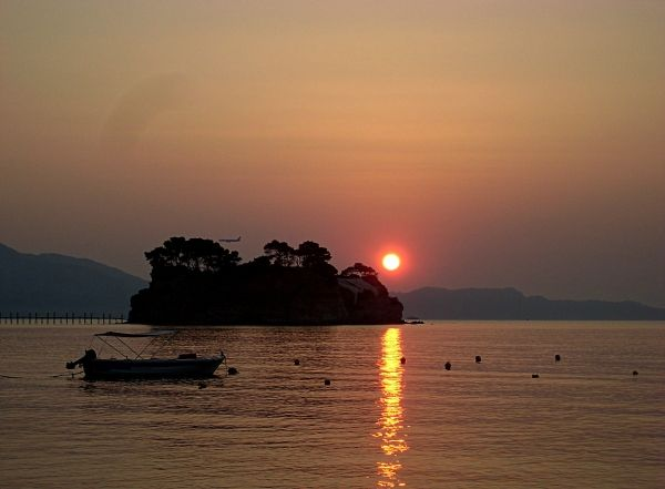 Romantic sunset at Agios Sostis