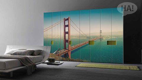Οι ντουλάπες των ονείρων σας!  Αυτοκόλλητο Ντουλάπας: http://www.houseart.gr/select_use.php?id=293&pid=11343  #houseart #closet #wardrobe #sticker #bridge #decoration