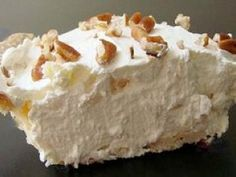 Millionaires Pie. Not fancy. Easy to make, but tasty!                                                                                                                                                                                 More