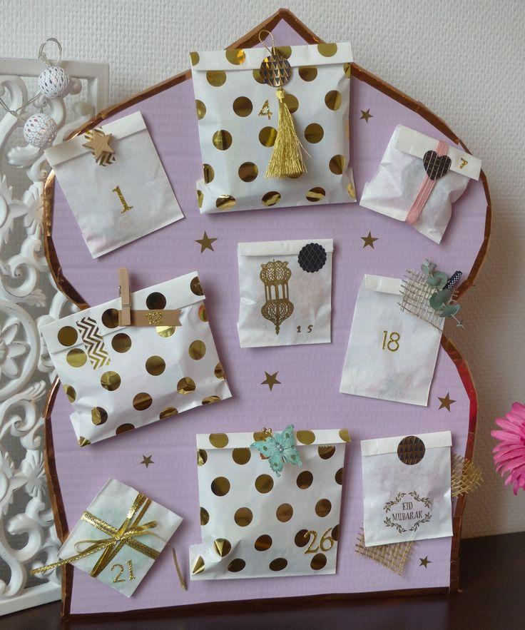 Faire un calendrier de ramadan http://blog.jasmineandco.fr/faire-calendrier-de-ramadan/ diy ramadan eid muslim craft calendar