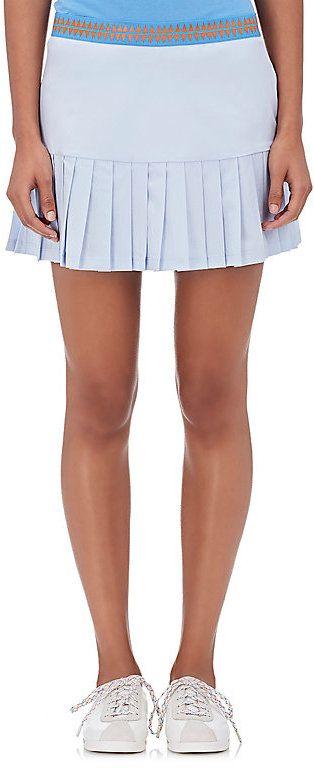 Tory Sport Women's Pleated-Hem Tennis Skirt-LIGHT BLUE, Rock, Tennis Dress, Tennis Fashion Women trendy Tennis Outfits for her, Tennismode, sportliche Mode fürs Tennisspielen.