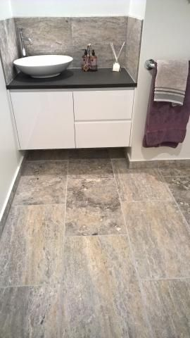 Travertine Tiles, Silver, Tumbled and Unfilled