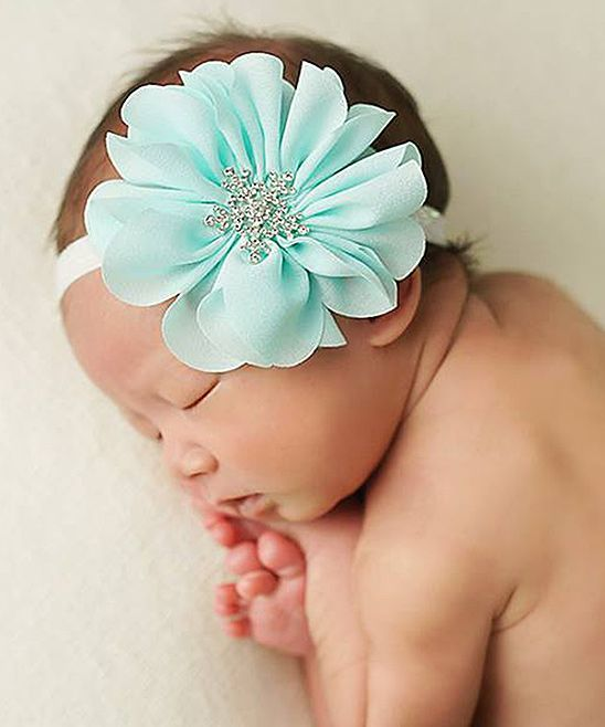 Mint Baby Flower Headband.