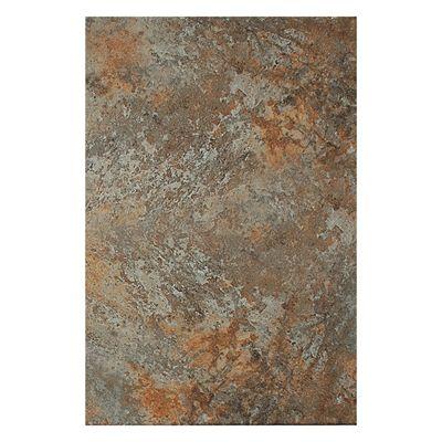 American Olean Rustic Slate 12-in x 18-in Sulphur Porcelain Floor and Wall Tile