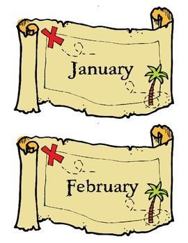 $3 TPT Pirate Themed Birthday Chart