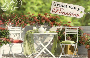 Geniet van je pensioen  pensioenkaarten wenskaarten voor een pesnioen