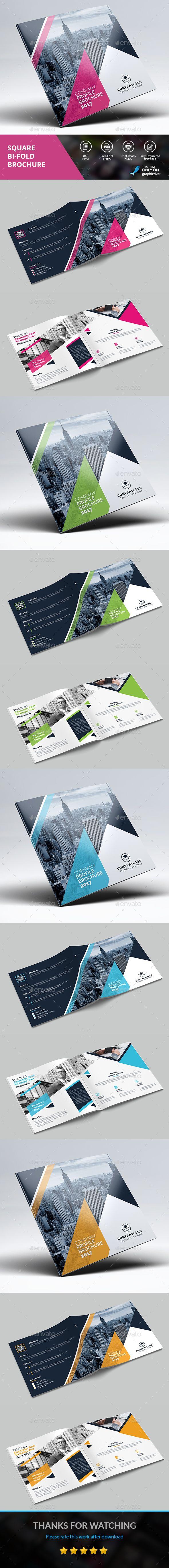 Square Brochure Template PSD
