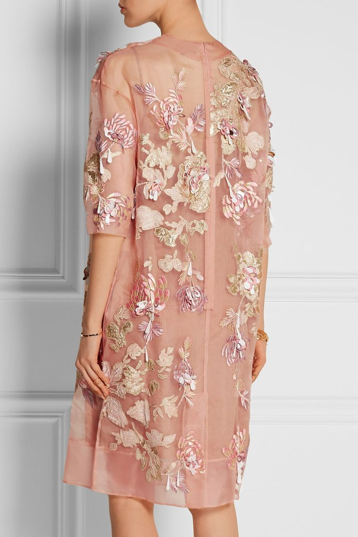 BIYAN Ava embellished silk-blend organza dress £2,055