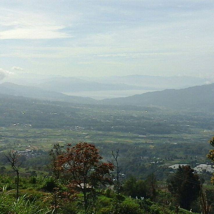Singkarak lake from singgalang mount