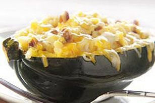 Rice & Cheese Stuffed Acorn Squash