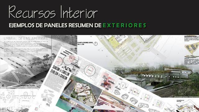 Recursos Interior: 10 Ejemplos de panel resumen de exteriores