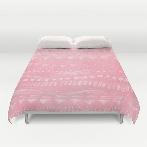 Pink Duvet Cover pink bed cover pink bedding pink by lake1221