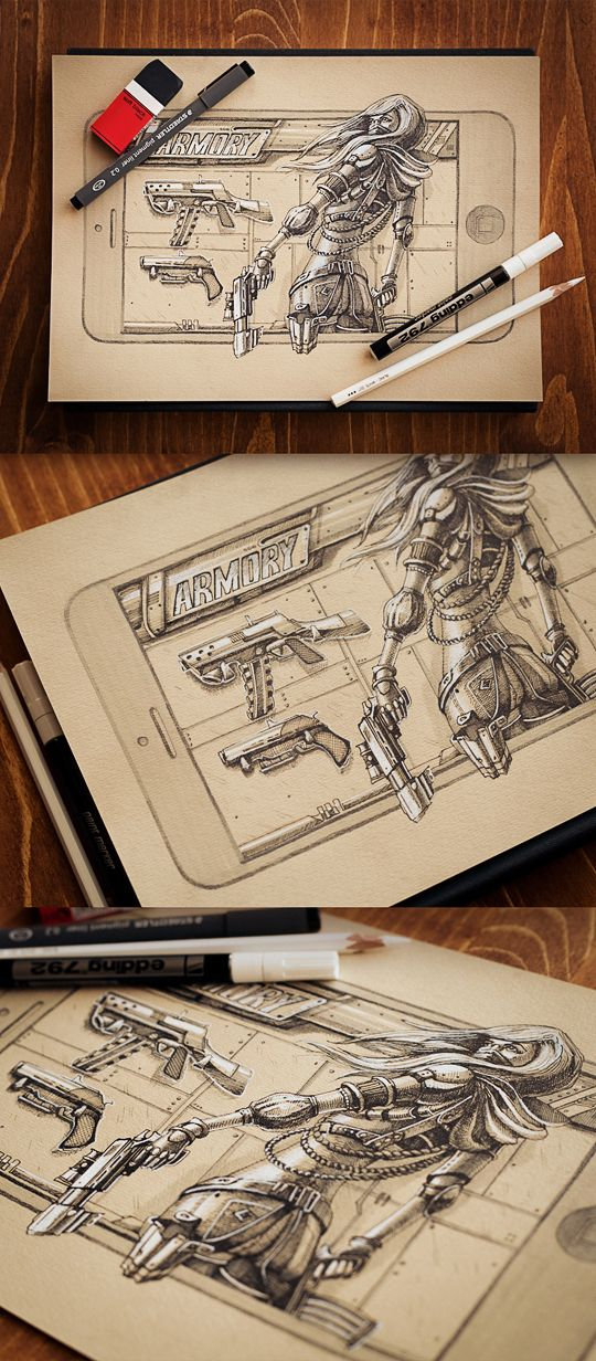 Character design | 2012-2013 by Mike , via Behance